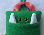 Tooth Fairy Pillow | Green and Tie Dyed Tooth Monster | Tooth Fairy Monster Pillow