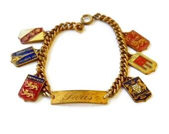 Vintage Paris Souvenir Charm Bracelet c.1950s