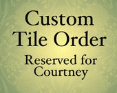 RESERVED FOR COURTNEY Metal Frame for house numbers