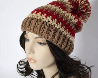 Slouch Hat Thick Mesh Slouch Hat Crochet Slouchy Beanie Men Women Beanie