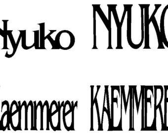 "Nyuko Kaemmerer Custom Sign 12"" x 6"""