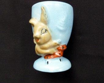 Bunny rabbit eggcup vintage Japan