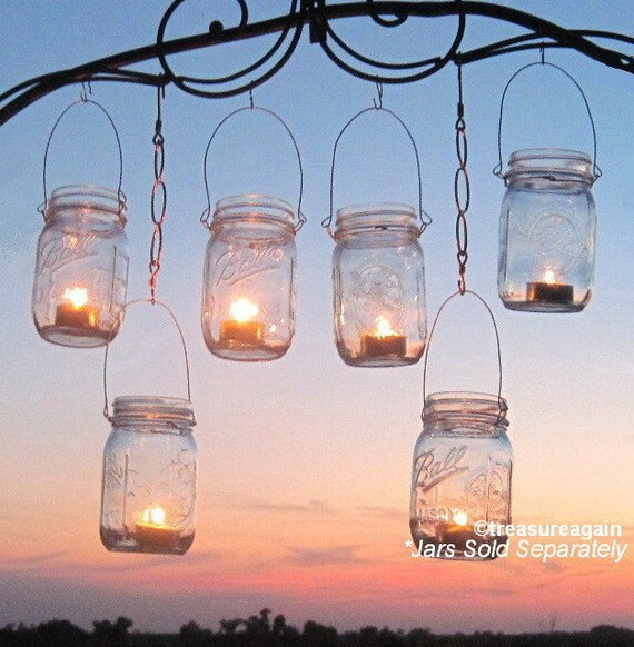 12 Hanging Garden Light DIY Mason Jar Lantern Hangers, Weddings, DIY Candle Jar or Flower Vase Hangers, Jars Sold Separately