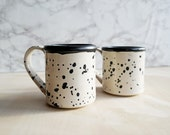 White + Black Penny Lane Mug - Set of 2