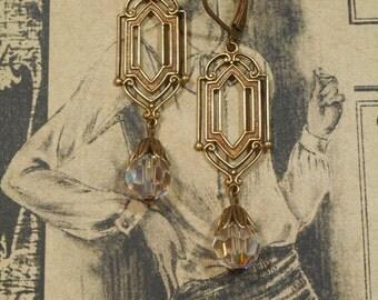 Daisy Buchanan Earrings - Great Gatsby Jewlery - Bridal Jewelry - 1920s Earrings - Downton Abbey Jewelry - Gift for Her - Womens Jewelry