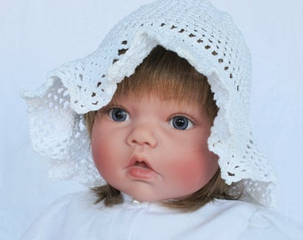 Vintage Crocheted Girls Cap Hat