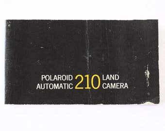 Owner manual for Polaroid Automatic 210 Land camera