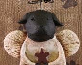Black Lab Angel Ornament,OOAK,handmade paper mache,Black Lab ANGEL