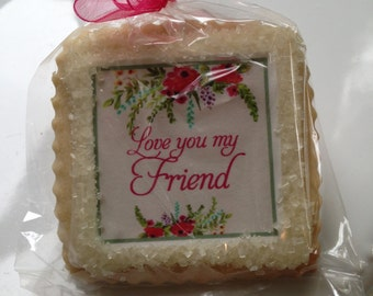 custom cookie favor friend gift thank you