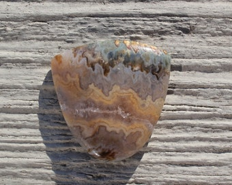 Prudent Man Plume Agate Cabochon - Vein #2 -  jewelry making focal stone, stone cabochon, landscape agate, rare, top shelf, 37 x 38 x 4 mm