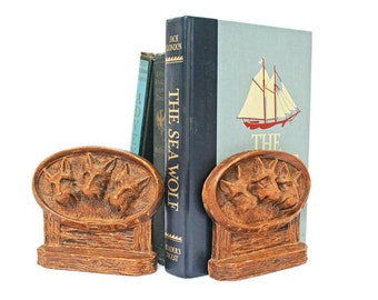 Vintage Bookends / Book Ends / Scotty Dog Collectible made of Syroco Wood for Library Office or Study Decor