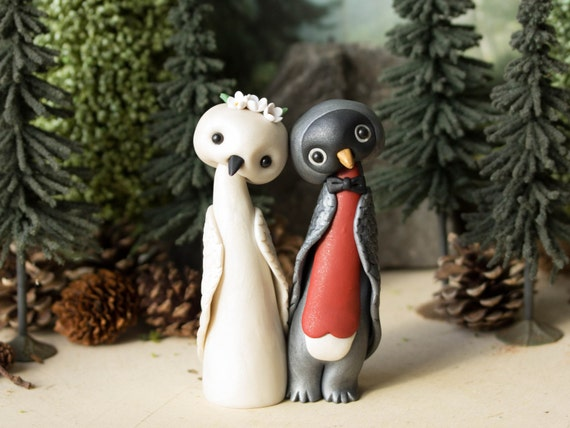 Robin Wedding Cake Topper - Bird Wedding by Bonjour Poupette