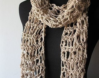 Summer Breeze Lightweight Cotton Scarf in Beige
