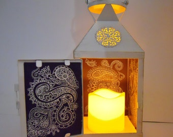 Engraved Mirror Lantern