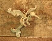 Vintage Hummingbird Decor Outdoor or Indoor Metal Art Hummingbird Art