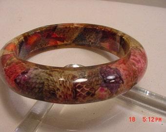Vintage Bangle Bracelet Looks Like Snake Skins   16 - 851