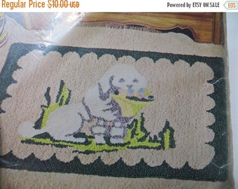 ON SALE Vintage Punch Needle-Hook Rug Kit-Pattern-Poodle Dog-#674-NEW Old Stock-Original Package-Aunt Lydia's