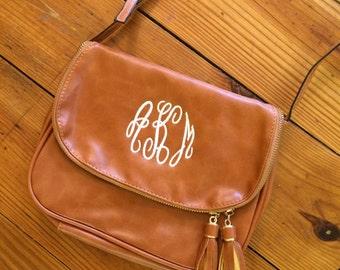 Crossbody Bag, Tassel Crossbody Bag, Monogrammed Crossbody, Crossbody Bag, Crossbody, Monogrammed Handbag