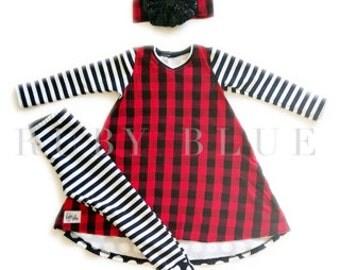 Sylvie Buffalo Plaid Christmas outfit