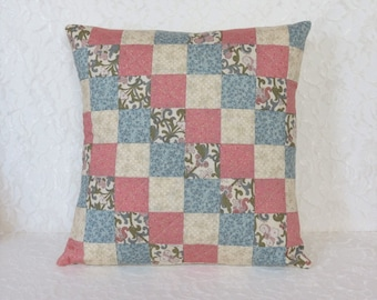 Country Patchwork Quilted Pillow Covers with pillow inserts