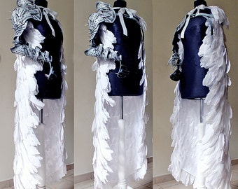 White Angel Knight Feather cloak