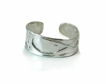 Sterling Silver .925 Cuff available in Oxidized and Shiny Polish