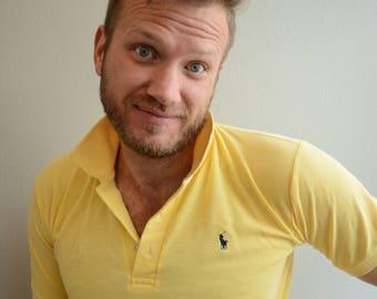 Vintage 90s Ralph Lauren Yellow Polo Shirt