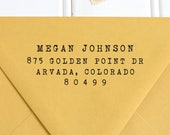 Address Stamp, Return Address Stamp, Self Inking Return Address Stamp, Wedding Return Address Stamp, RSVP Stamp, Typewriter Stamp - No. 15