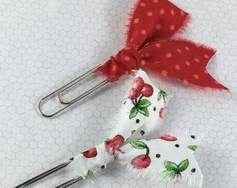 Cherry - Rip Clip - Planner Clip/Bookmark Set - 2 pack