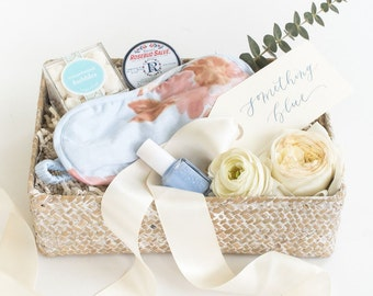 Blue Bride Gift | Something Blue Bride Gift Box With Bridal Garter | Free Shipping