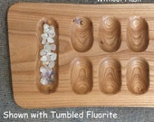 Primitive Mancala Game board in Siberian Elm 16003 -  Handmade from US grown Reclaimed Hardwood