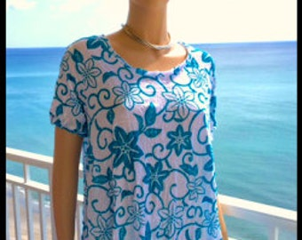 TURQUOISE Swing Top Medium Large XL 2X