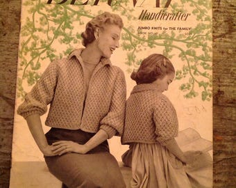 Vintage 1954 Bernat Handicrafter Knitting Pattern Book 41