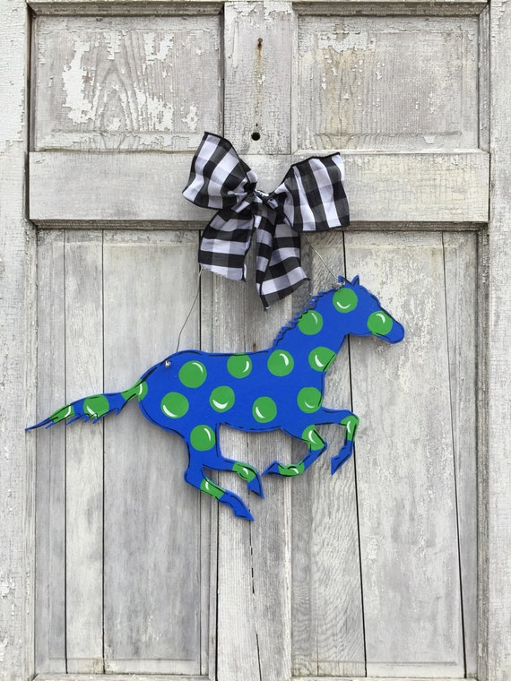 Race horse door hanger, Derby door hanger, Keeneland door hanger, Horse racing sign, Derby party decoration