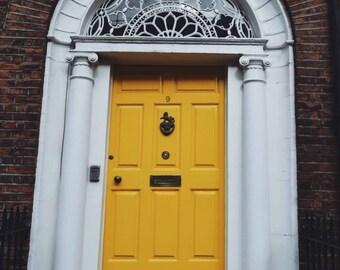 Ireland-Dublin-Doors of Dublin-Yellow Door- Fine Art Photography