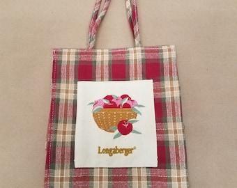 Vintage Longaberger Fabric Tote
