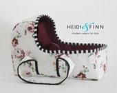 OOAK Doll baby carrier LARGE floral - doll bassinet crib bunting bag baby basket