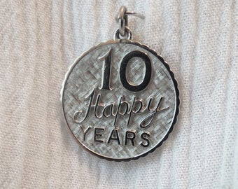 10 Happy Years Sterling Silver Charm