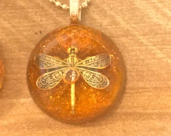 Sale 25% off~Dragonfly in Amber~IMPERFECT~ Dragonfly Pendants~Outlander Jewelry~Resin Pendants~Outlander inspired jewelry