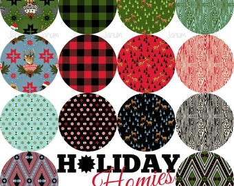 PREORDER Fat Quarter bundle from the Holiday Homies fabric collection by Tula Pink for Free Spirit fabrics