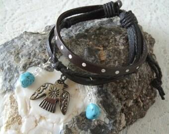 Thunderbird Bracelet southwestern jewelry southwest jewelry turquoise jewelry native american jewelry style country western boho bohemian