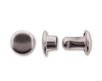 Post Rivet/Cap Silver Plate-6mm-Create Recklessly-12pc.-Add Detail to Leatherwork- Includes Post and Cap-Metal Supply Chick
