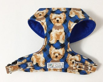 Yorkie Comfort Soft Dog Harness - Made to Order -