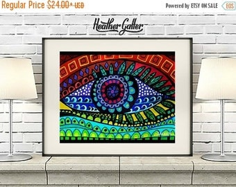 50% Off Today- Human Eye Art Print Poster by Heather Galler Ophthalmology  (HG11221)