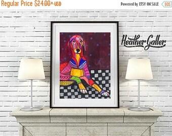 50% Off Today- Azawakh art Art Print Poster by Heather Galler (HG152)
