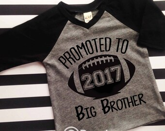 Big Brother Football Big Brother Shirt Hipster Big Brother Promoted to Big Brother Shirt Big Bro Shirt Football Big Brother Hipster Raglan