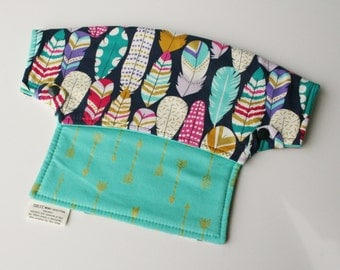 Baby Carrier Drool Bib - Flock Together and Arrows (Fits LÍLLÉbaby Carriers) - Ready to Ship!