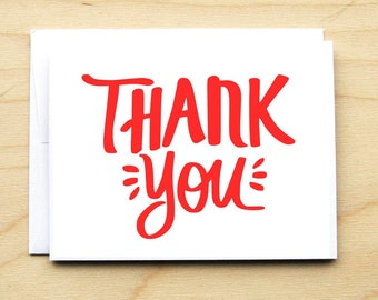 Lettered Thank You Card