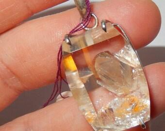 Inner Child Clear Quartz Sterling Silver Pendant