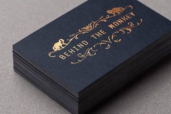 200 business cards black 14pt matte stock copper bronze for 200 business cards